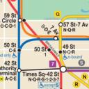 Map of NYC Subway: offline MTA