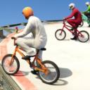 BMX acrobacias encima corredor