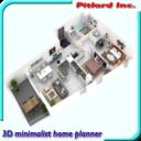 3D Plan vivienda minimalista