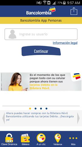 Bancolombia App Personas 1