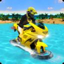 Surfista moto coche de carrera