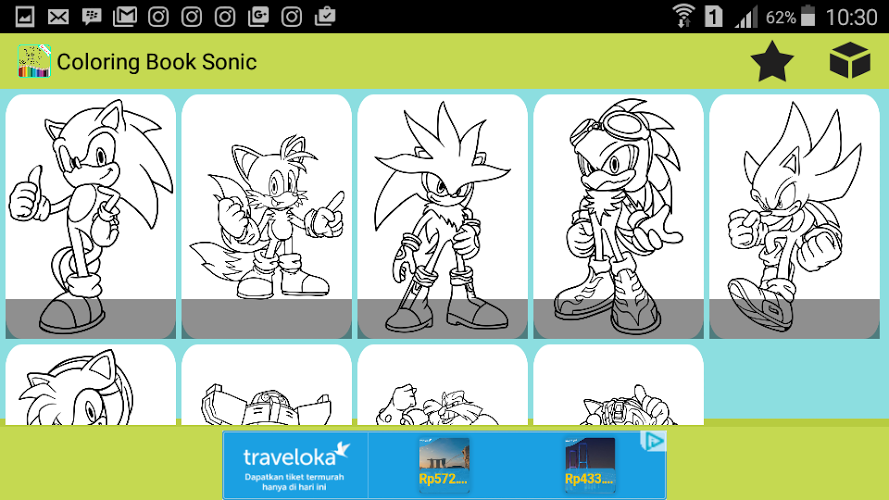 Coloring For Sonic Game 4