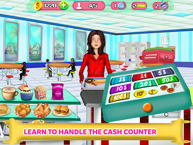 High School Cafe Cashier Girl – Kids Game 3