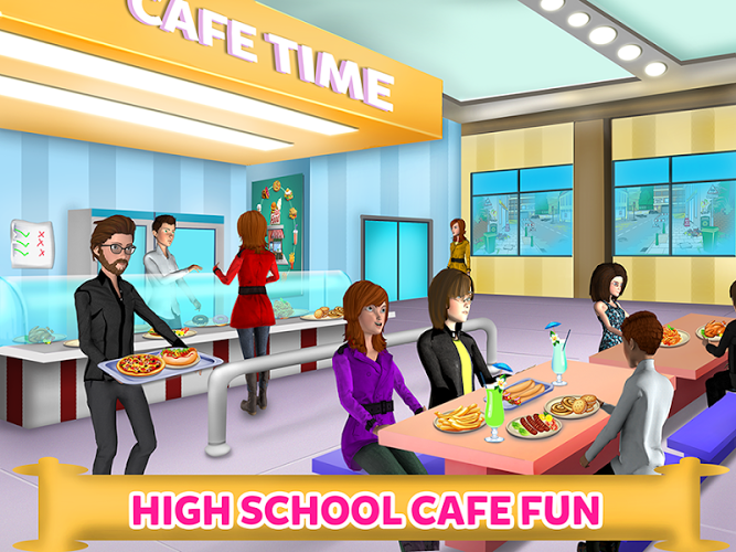 High School Cafe Cashier Girl – Kids Game 4