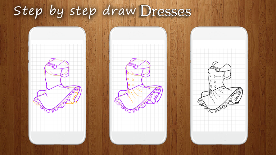 How to Draw Dresses 3