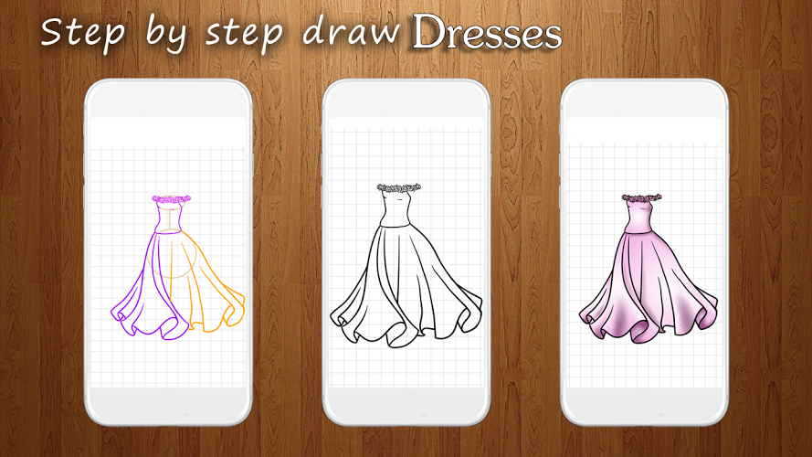 How to Draw Dresses 4
