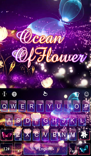 Ocean of Flower Keyboard Theme 2