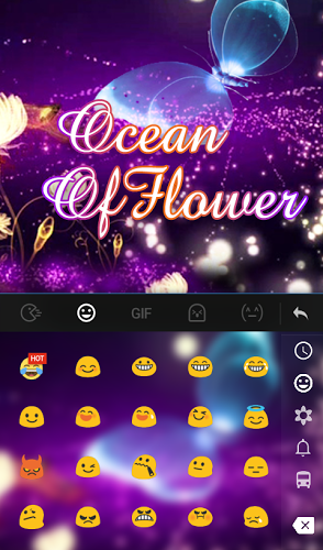 Ocean of Flower Keyboard Theme 4