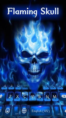 Tema de Teclado Flaming Skull APK para Android | Descargar Gratis