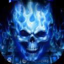 Tema de Teclado Flaming Skull