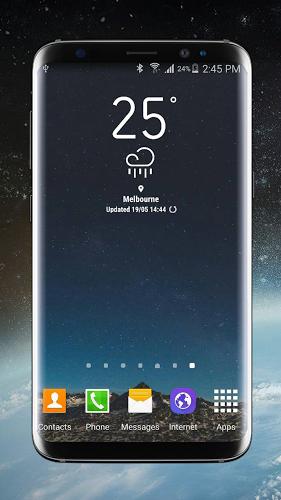 Weather Widget Galaxy S8 Plus 3