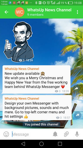 WhatsUp Messenger Tablet 3