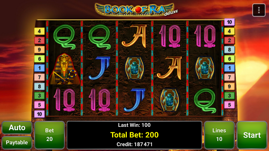 Video Slot Book Of Ra Deluxe