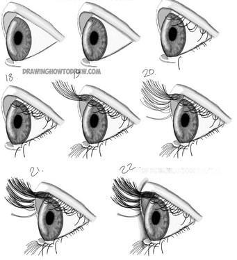 Cómo dibujar el ojo 4