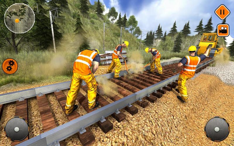 Construcción de vías de tren 1