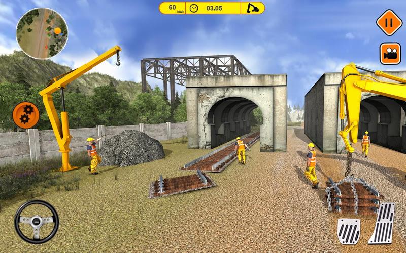 Construcción de vías de tren 5