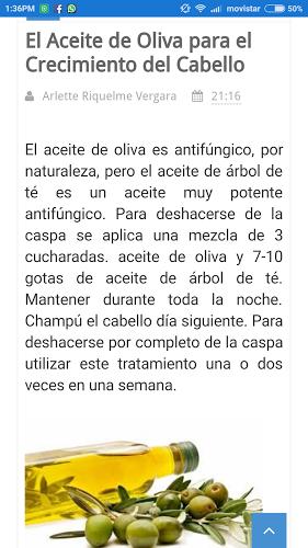 Crecer Cabello Aceite de Oliva 1