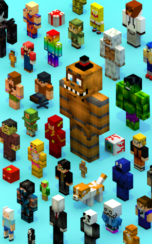 Crossy Creeper Multijugador: La Isla Marvel Online 5