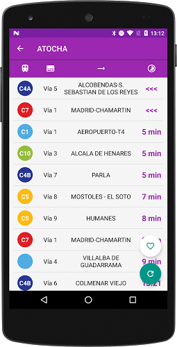 Horarios Cercanías Madrid 1