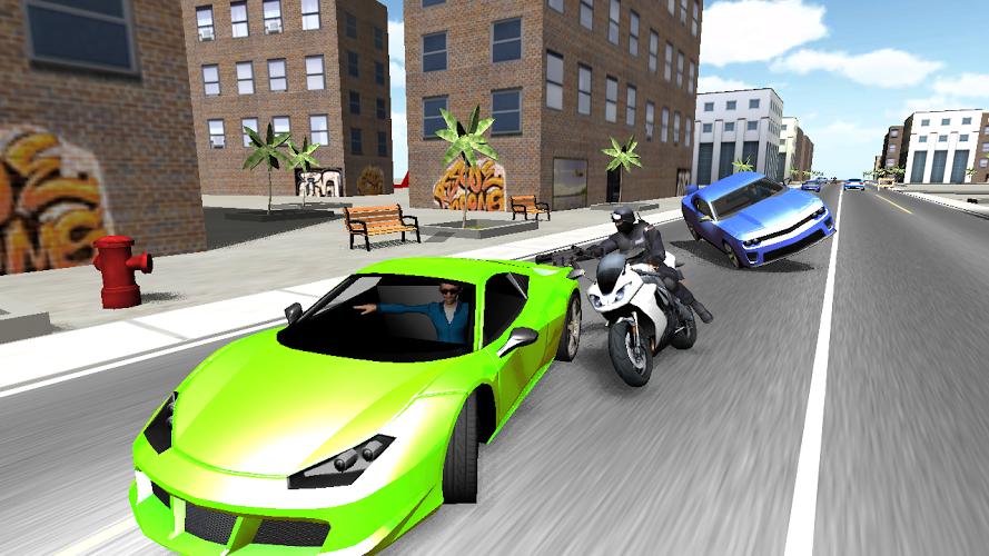 Moto de combate en 3D 3