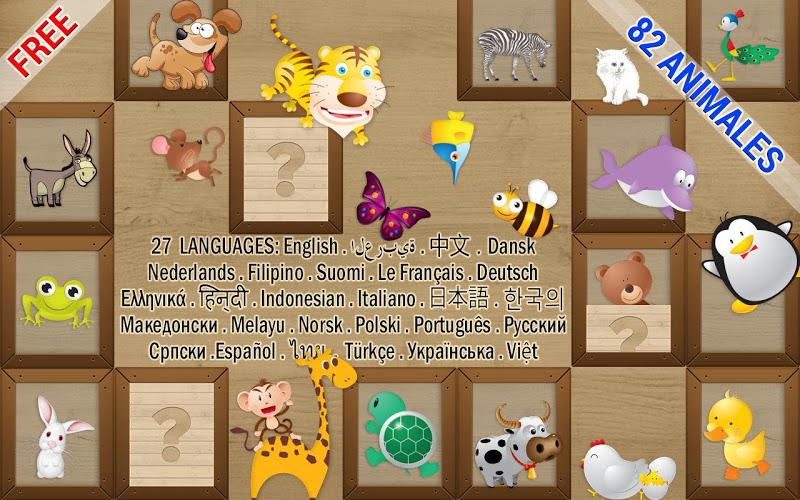 Niños juego de memoria -Animal 1