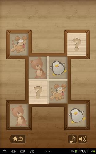 Niños juego de memoria -Animal 2