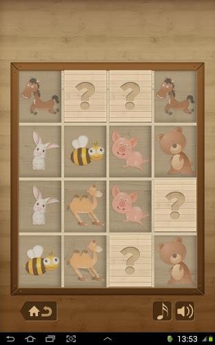 Niños juego de memoria -Animal 4