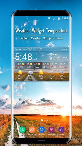 real time weather widget temperature&wind 1