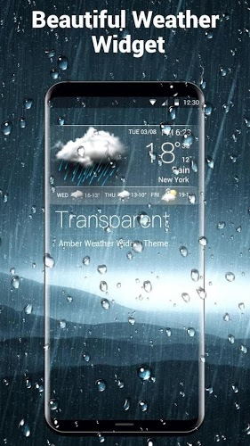 real time weather widget temperature&wind 2