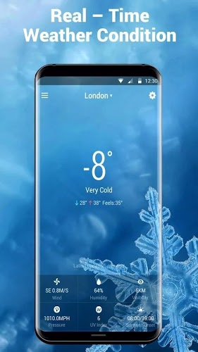 real time weather widget temperature&wind 4