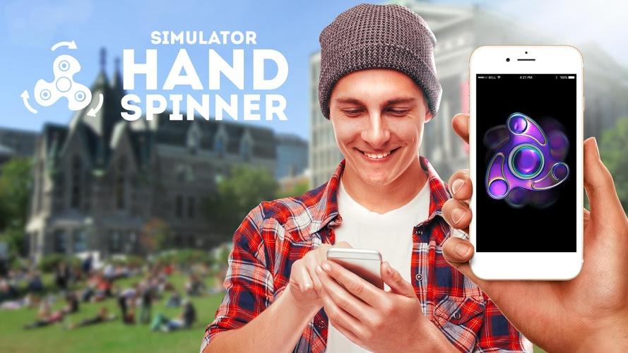Simulador de spinner de mano 1