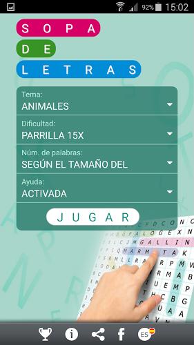 Sopa de letras en español 1