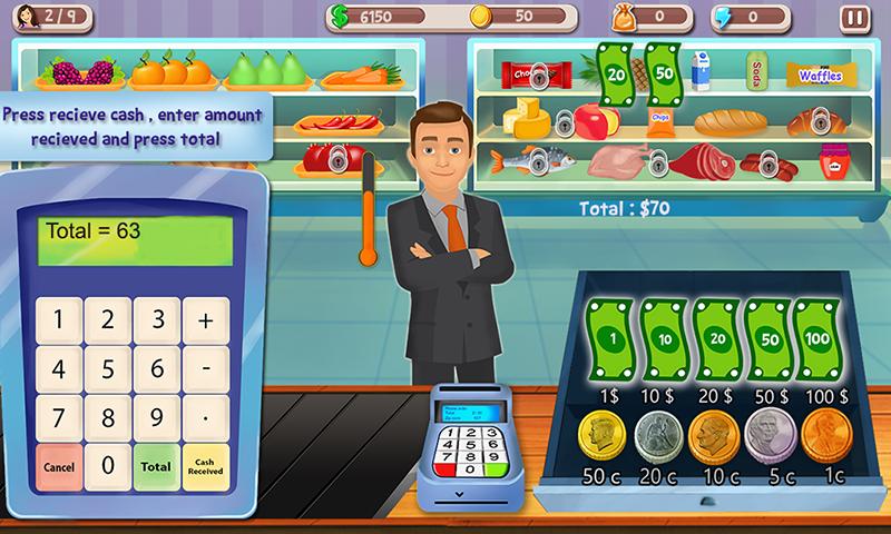 Supermercado caja registradora: Gerente y Cajero 1