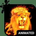 Teclado Animado León de Fuego
