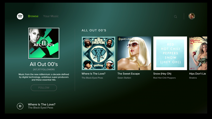 Spotify Music para Android TV 1