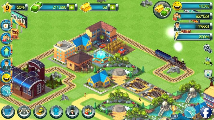 Construye tu Ciudad Tropical (Tropic Town Sim Bay) 2