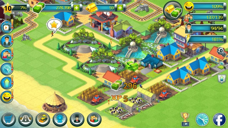 Construye tu Ciudad Tropical (Tropic Town Sim Bay) 3