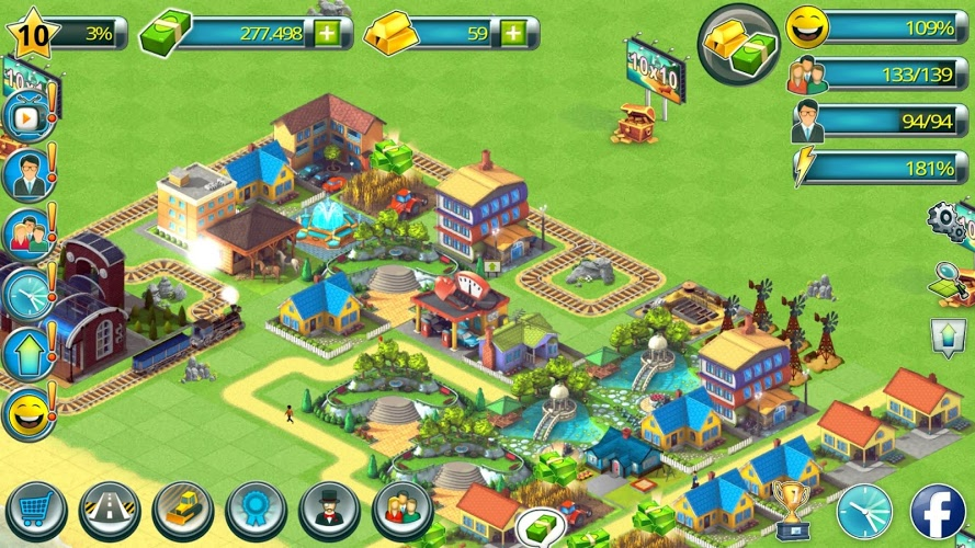 Construye tu Ciudad Tropical (Tropic Town Sim Bay) 4