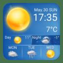 Daily Local Weather Forecast Clock Widget