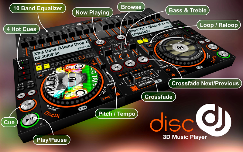 DiscDj 3D Music Player Beta 5