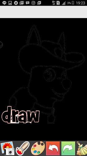 Draw Glow Paw Patrol 1