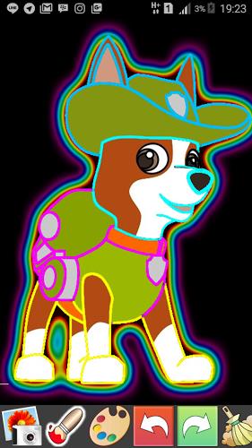 Draw Glow Paw Patrol 2