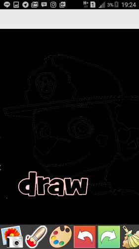 Draw Glow Paw Patrol 3