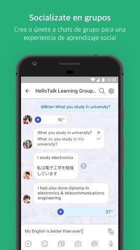 HelloTalk: practica lenguas 5