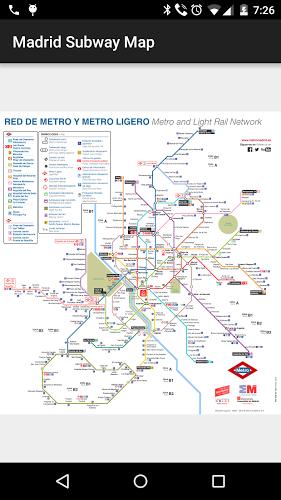 Mapa del Metro de Madrid 1