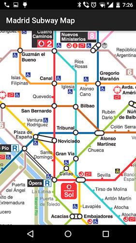 Mapa del Metro de Madrid 2