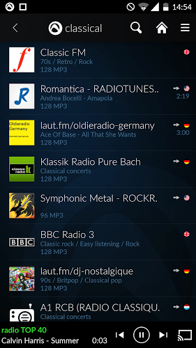 Radio Player de Audials 2