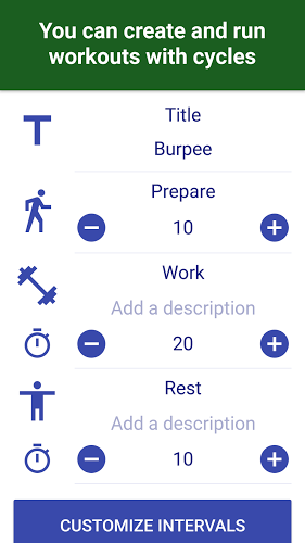 Tabata Timer: Interval Timer Workout Timer HIIT 5