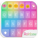 Teclado Emoji Amor Arco iris