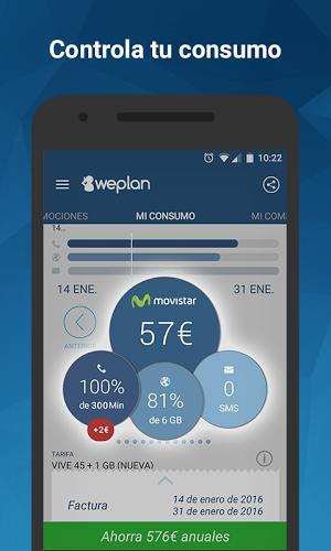 Weplan: Consumo datos y voz 1